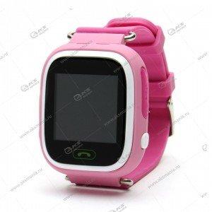 Часы детские Q90 GPS, Будильник, Шагомер. Сенсорный розовый