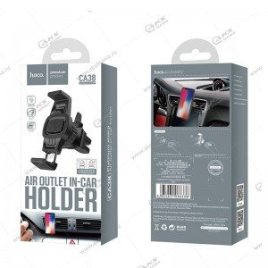 Автодержатель Hoco CA38 для телефона/на воздуховод черный