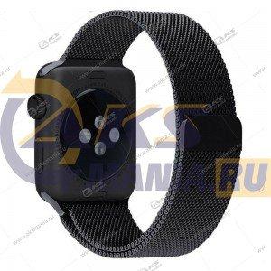 Ремешок миланская петля для Apple Watch 38mm/ 40mm черный