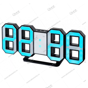 Часы Perfeo Luminous 2 PF-6111 черный корпус / синяя подсветка