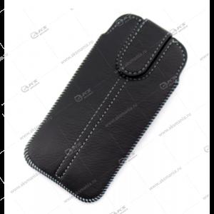 Чехол с язычком липучка для Samsung I9190 черный