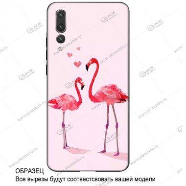Силикон имитация стекла для IPhone 7G/8G розовый фламинго