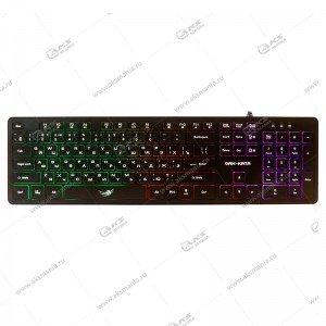 Клавиатура KGK-17U Dialog Gan-Kata - игровая с RGB подсветкой, USB, чёрная