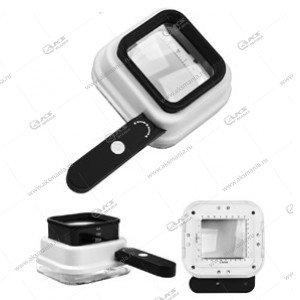 Лупа контактная измерительная TH-8016 10х/15x/20x-55мм с подсветкой + ультрафиолет