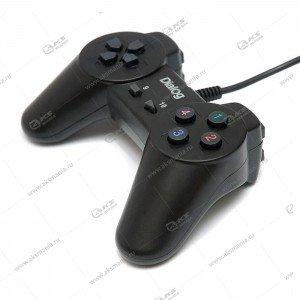 Gamepad проводной GP-A01 DIalog Action, 10 кнопок, USB, чёрный