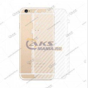 Защитная пленка для iPhone 5G/5S задняя карбоновая прозрачная