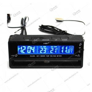 Часы автомобильные+вольтметр VST-7010V