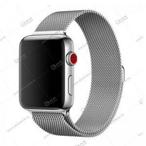Ремешок миланская петля для Apple Watch 38mm/ 40mm серый