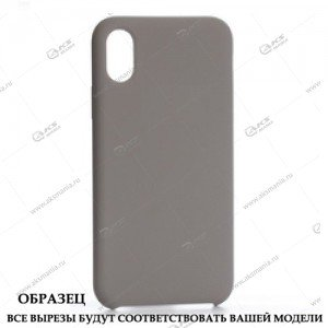 Silicone Case (Soft Touch) для iPhone 5/5S/5SE светло-серый