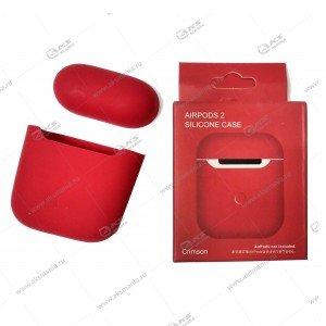 Силиконовый чехол для Airpods 2 Crimson