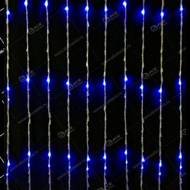 """Гирлянда """"Водопад"""" 3x2м 560LED в коробке синий"""