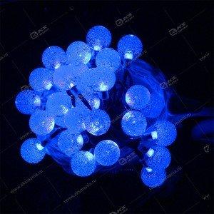 """Гирлянда """"Шарики с пузырьками"""" силиконовый провод 40LED синий"""