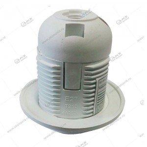 Патрон пластиковый с кольцом, E27, белый, термостойкий пластик (SBE-LHP-sr-E27)