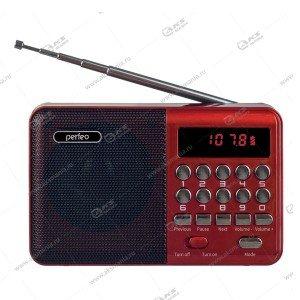 Колонка портативная Perfeo PALM (i90BL) FM USB TF красный