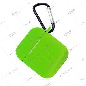 Силиконовый чехол для Airpods 2 Grass Green
