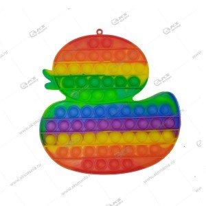 Игрушка Антистресс Pop it резиновые пузырьки (утка большая)