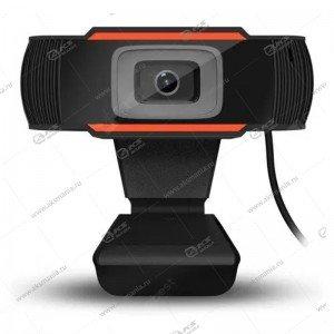 Веб-камера CM-004-720p с микрофоном, черно-оранжевая