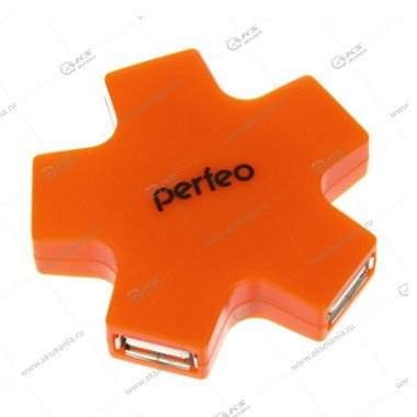 Perfeo USB-HUB 4 Port (PF-HYD-6098H) оранжевый