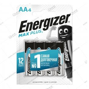 Элемент питания Energizer AA LR6 Max Plus/4BL