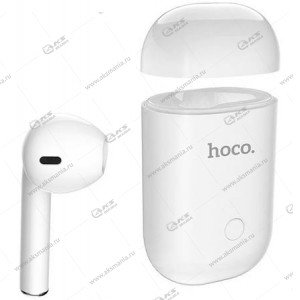 Bluetooth гарнитура Hoco E39L Mirth для левого уха белый