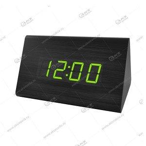 Часы Perfeo Trigonal PF-S711T чёрный корпус / зелёная подсветка