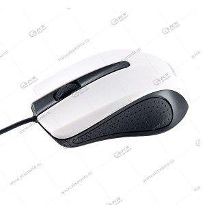Мышь проводная Perfeo Rainbow оптическая, 3 кн, USB, 1,8м, (PF-353-OP) черно-белый