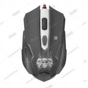 Мышь проводная игровая Defender Skull GM-180L черный
