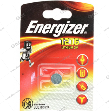Элемент питания Energizer CR1216/1BL