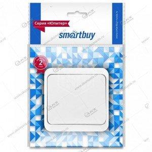 """Выключатель Smartbuy 1-клавишный 10A, ОУ, белый, """"Юпитер"""" (SBE-03w-10-SW1-0)"""