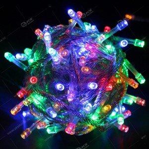 Гирлянда силиконовый провод 100LED 4м разноцвет.