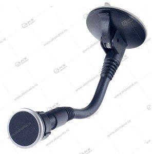 Автодержатель Perfeo PH-519 чёрный для смартфона/на стекло/гибкая штанга/магнитный