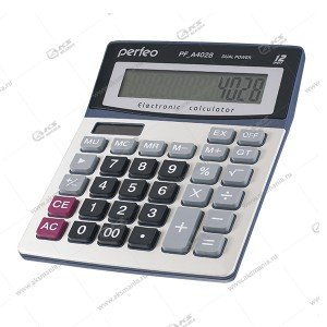Калькулятор Perfeo PF_A4028, бухгалтерский, 12-разр., GT, серебристый