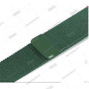 Ремешок миланская петля для Apple Watch 38mm/ 40mm темно-зеленый