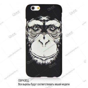 Пластик Samsung S4/i9500 шимпанзе черный №1