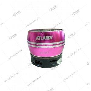 Колонка портативная ATLANFA AT-9164 BT FM TF USB розовый
