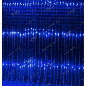 """Гирлянда """"Водопад"""" 1,5х1,5м 360LED в коробке синий"""