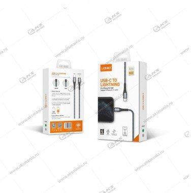 Кабель USB LDNIO LC111 Type-C-Lightning/ 1m/30W/ медь: 110 жил/ Нейлоновая оплетка/ Gray