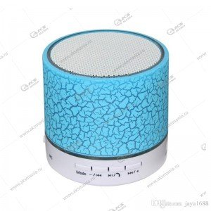 Колонка портативная BT Speaker A9 BT FM TF синий трещинки