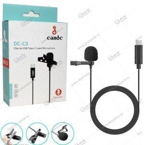 Микрофон Candc DC-C3 Type-C для камер и телефонов