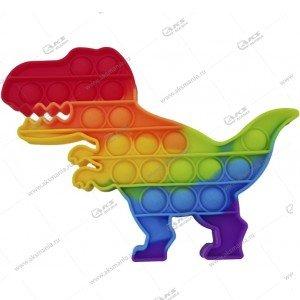 Игрушка Антистресс Pop it резиновые пузырьки (Тираннозавр Рекс)