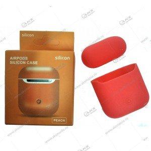Силиконовый чехол для Airpods Peach