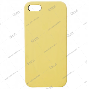 Silicone Case (Soft Touch) для iPhone 5/5S/5SE бледно-желтый