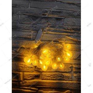 """Гирлянда """"Шарики с пузырьками"""" силиконовый провод 40LED желтый"""