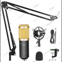 Микрофон студийный подвесной конденсаторный с подставкой BM-800 золотой