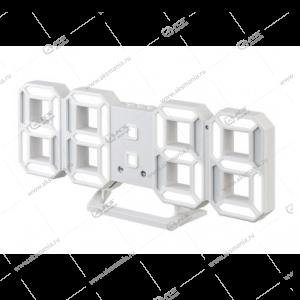 Часы Perfeo Luminous 2 PF-6111 белый корпус / белая подсветка