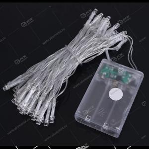 Светодиодная гирлянда на батарейках силиконовый провод 3м белый