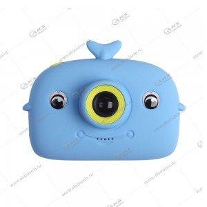 Детский фотоаппарат Дельфин 2 камеры X12A синий