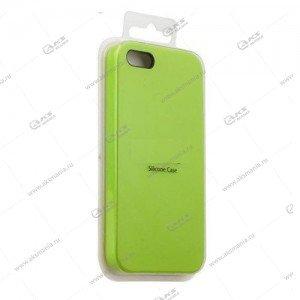Silicone Case (Soft Touch) для iPhone 5/5S/5SE зеленый