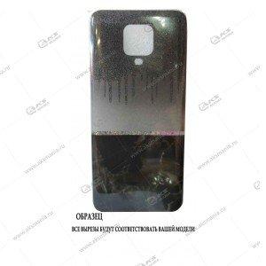 Силикон Huawei Honor 10i мрамор черный с блестками