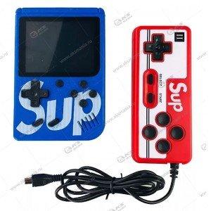 Портативная игровая приставка с джойстиком SUP Game box 400in1 синяя